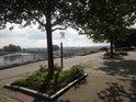Příjemné nábřeží Odry, Frankfurt.