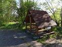 Odpočívka na pravém břehu Odry nedaleko Šunychlu, na hranici chráněného území Hraniční meandry Odry.
